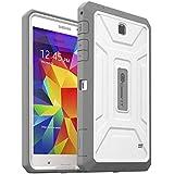 """GearIT Samsung Galaxy Tab 47.0""""ShoXx PC–TPU Silicone Hybrid Rugged Case, plástico, multicolor - Gray / White, Galaxy Tab 4 7.0"""