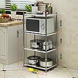 LXSnail Estantería de Cocina Estanterías para hornos de microondas  Estanterías de Utensilios de Cocina de Acero c4d044723da3