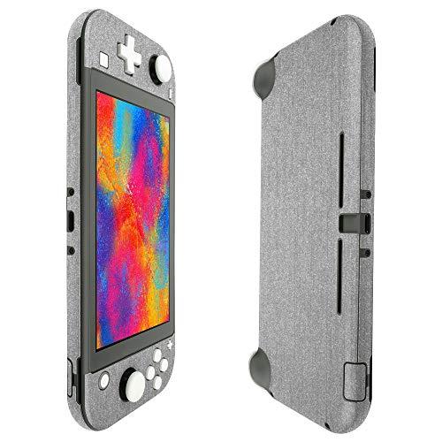 Skinomi Skin für Nintendo Switch Lite (gebürstetes Aluminium, inkl. Displayschutzfolie für Nintendo Switch Lite, 5 Zoll, 2019)