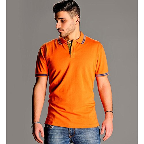 "Designer-Polo ""Greenwich""/MYDAY/kurzarm/Polo-Shirt/NEU Orange"