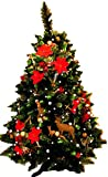 Weihnachtsbaum geschmückt mit 120 bunten LED