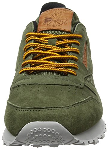 Reebok Classic Leather Ol, Scarpe da Ginnastica Basse Uomo Verde (Poplar Green/steel/semi Solar Gold/ginger/pewter)