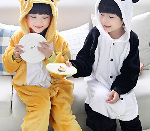 CWJ Pyjamas-Kids Cartoon Flanell Tier Neuheit Kostüme Cosplay Pyjamas Rollenspiel Halloween Play - Kids Panda Pyjama Kostüm