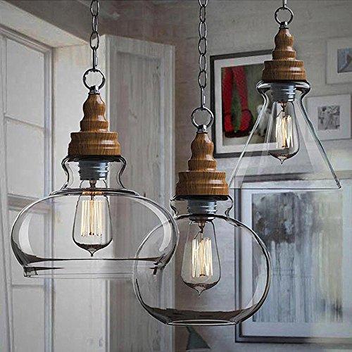 Wide-decken-leuchte (Nostralux 2016 Moderne Deckenlampe, skandinavischer Stil, Pendelleuchte, Glas, mit einem E27-Pendellampenhalter, Glas, Glass Wide 60.00 wattsW 220.00 voltsV)