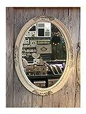 charma nter rústico madera espejo de pared 18–1Espejo Antiguo perchero Espejo Piso Espejo barroco