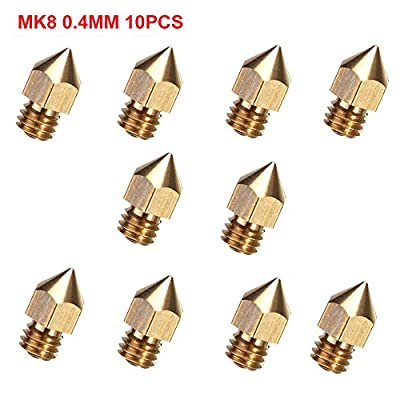 CCTREE 10pcs 0.4mm MK8 Extruder Nozzle For 3D Printer Makerbot Creality CR-10 CR-10S S4 S5