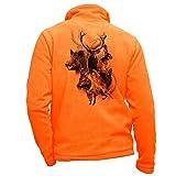 Pets-easy Veste Chasse Polaire Orange personnalisé cerf - vêtement Chasse Taille M