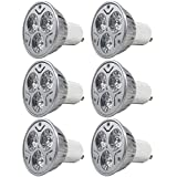 MENGS® 6 Stück GU10 3W LED Lampe 3x 1W AC 85-265V Warmweiß 3000K