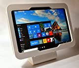 MS Surface Pro 4, 6, 2017 Security Anti-Theft Acrylic Enclosure Kit for Kiosk, POS, Store, Show Display (White Desktop Stand)