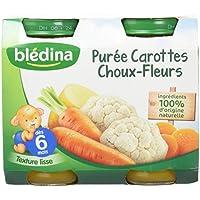 Blédina Pots Purée Carottes Choux Fleurs 2x200 g - Pack de 6