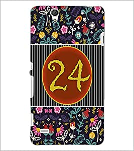 PrintDhaba Numerology Number 24 D-3113 Back Case Cover for SONY XPERIA C4 (Multi-Coloured)