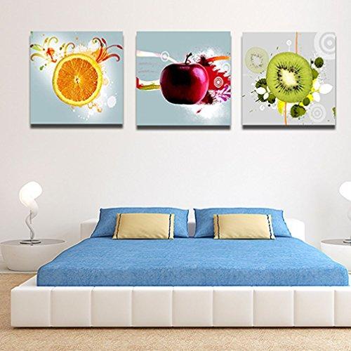 Alcyoneus, decorazione da parete, quadri su tela con illustrazioni di frutta, stile moderno, 3pezzi