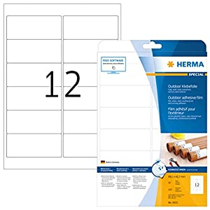 HERMA 9533 Labels A4 outdoor film 99,1x42,3 mm white extra strong adhesion film matt weatherproof 120 pcs.