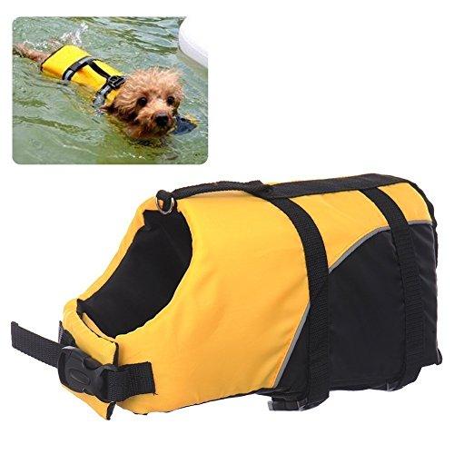REXSONN® Float Coat Hundeschwimmweste Schwimmweste Hunderettungsweste Rettungsweste Hundeweste Warnweste dog life jacket Schwimmhilfe für Hunde (Dog Schwimmhilfe)