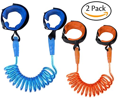Asier (Pack of 2) Anti Lost Wrist Strap for Child & Babies Toddler Safety, Harnesses & Leashes Walking Hand Belt Straps Link 2.5 Meter (8.2 feet long)