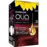 teinture pour les cheveux coloration permanent sans ammoniaque olia rouge profondo n.4,6