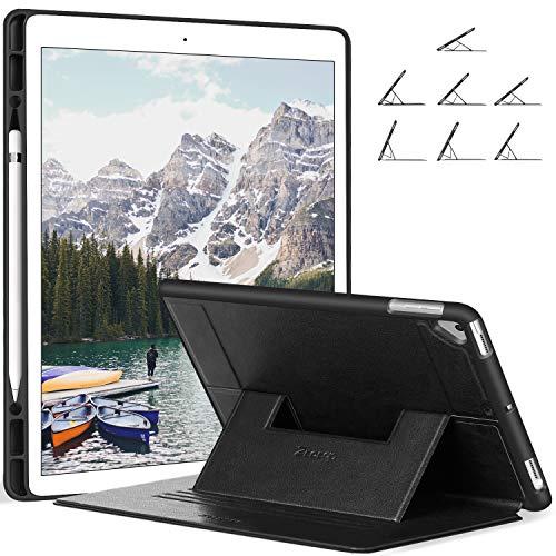 Ztotop Hülle für iPad Pro 12.9 Zoll 2017/2015 - mit Stifthalterung, mehrere Winkel Schlank leichte TPU, Geeignet Schutzhülle für iPad Pro 12,9 Zoll (A1670 / A1671 / A1584 / A1652), Schwarz - Abdeckungen Magnetische Kühlschränke Für
