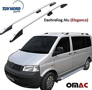 Omac Aluminium Dachreling Für T5 Transporter V 2003 2015 Relingträger Gepäckträger Grau Mit TÜv Abe Kurzer Radstand Auto