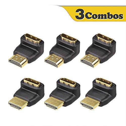 VCE 6 Stück HDMI Winkeladapter 4K HDMI Winkelstecker 90 Grad und Winkelstecker 270 Grad Adapter Hdmi Right Angle Adapter