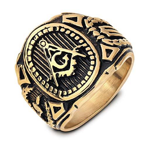 ZQHWM Ring aus Edelstahl, für Männer, CA2502