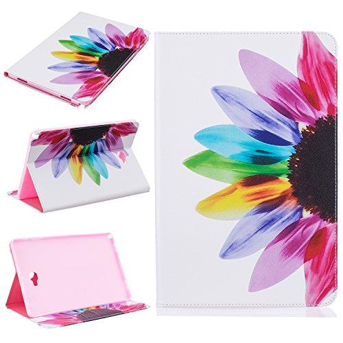 Samsung Galaxy Tab A 10.1mit S Pen (P585/P580) Fall, beimu Ultra Leicht Slim PU Leder mit Kreditkarte & ID Card Slot Schutzhülle für Samsung Galaxy Tab A 10.1mit S Pen (sm-p585/sm-p580), Half Flower