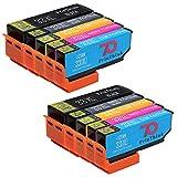 PrinThink Multipack Druckerpatronen kompatibel für Epson 33XL 33 Tintenpatronen Kompatibel mit Epson Expression Premium XP-530 XP-540 XP-630 XP-635 XP-640 XP-645 XP-830 XP-900 Drucker (2 Schwarz, 2 Foto-schwarz, 2 Blau, 2 Magenta, 2 Gelb)