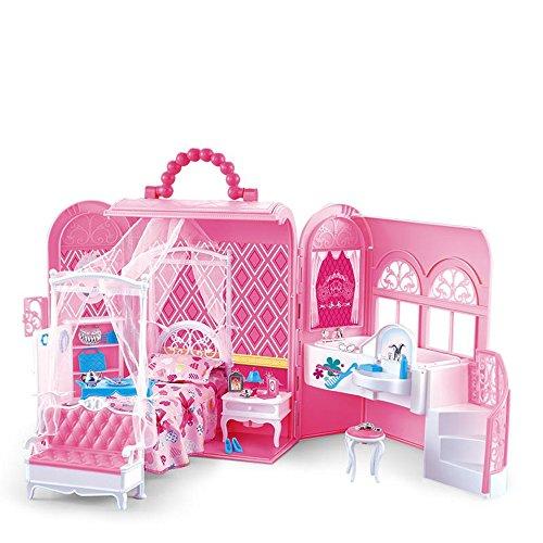 LINAG Kinder Modelle Stichsäge Manuelle Montage Taschen Täuschen Sie Vor Spielen Haus Häuser Spielzeug Geburtstagsgeschenk DIY Minipuppen Modepuppen Puzzle Zubehör Kunststoffe