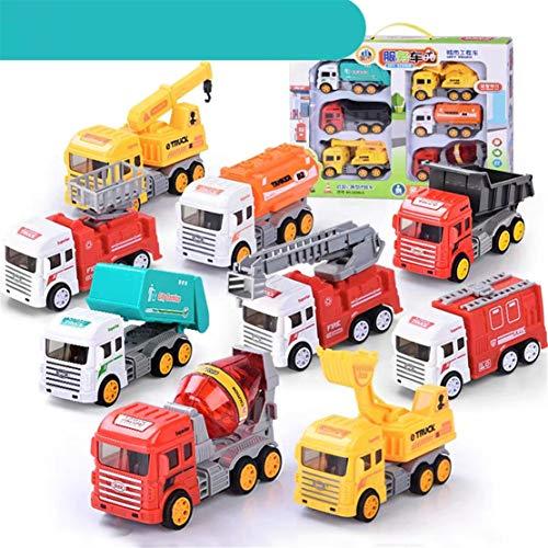 Happy Event Kinder Cartoon ziehen Mini Engineering Auto Trägheit Auto Spielzeug Set Geschenk 9 PCS