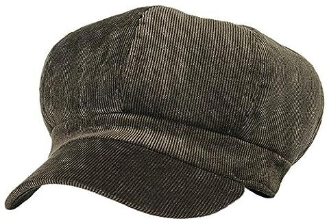 La Vogue Women Vintage Baker Boy Cap Peaked Beret Hat Flat Cap Army Green