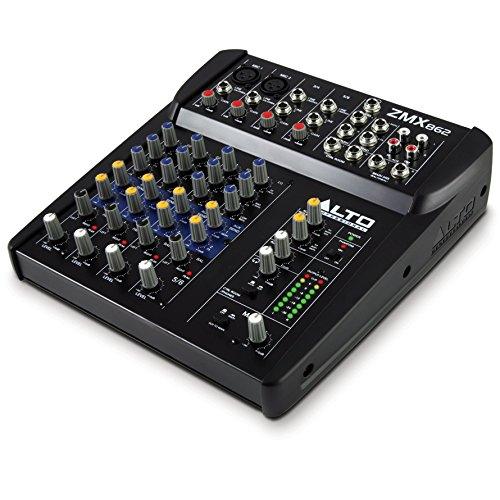ALTO ZMX862 Professionelle Kompakter 6Kanal Mischpult mit 3 Band EQ und 48V Phantom Power (8 Kanal Power Mixer)
