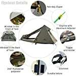 GEERTOP 1 Person 3-4 Season Lightweight Aluminum Pole Backpacking Bivy Tent for Camping Outdoor Hiking 4