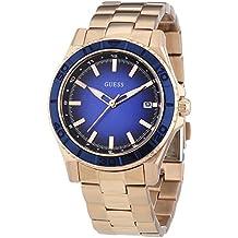 Guess - Reloj de cuarzo para mujer, correa de acero inoxidable, color oro rosa