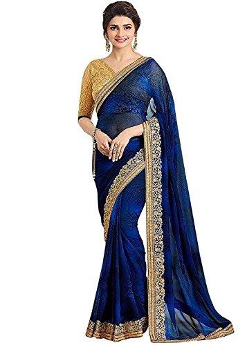 Zareen Fashion Women's GEORGETTE Multi-Colour Saree ( ZC4001 )