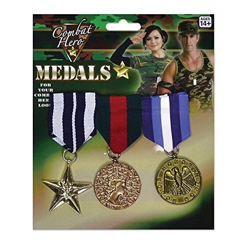 Forum Novelties Bristol Novelty BA584 Militärische Medaille, mens, Mehrfarbig, Einheitsgröße