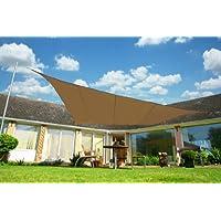 Kookaburra Toldo Vela de Sombra Para Jardín - Impermeable - 5.4m Cuadrado Moca