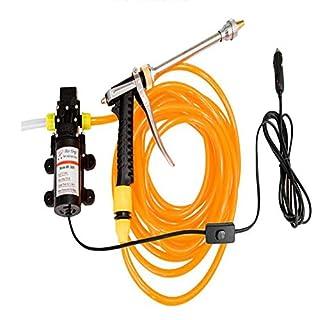 JINER Portable High Pressure Washer Car Electric Washer Pump with 10M Pressure Washer Hose for Home, Garden, Vehicles,