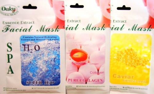 Gesichtsmasken Set COLLAGEN PUR - KAVIAR - H2O zur Gesichtspflege Hautpflege Kosmetikstudio