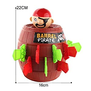Sipobuy Pop Up Pirate Fun Barrel Gioco di Action Game per bambini in età prescolare per bambini, 22 * 16 cm