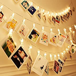 LED Fotoclips Lichterkette für Zimmer deko - wellead Clip Bilder Lichterketten Bilderrahmen Dekoration für Wohnzimmer innen Haus Hochzeit Schlafzimmer