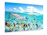 weewado Blueorange Studio   Bora Bora Lagoon   75x50 cm   Impression sur Toile   Art Mural   Tableau, Poster, Affiche, Décoration d'intérieur   Campagne