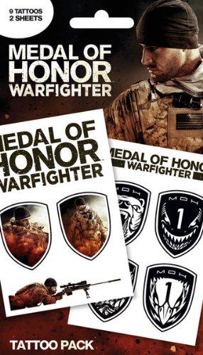 Medal Of Honor-Warfighter-temporäre Tattoo Pack (9Tattoos)