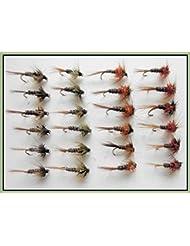 24Cruncher Nymphe mouches de pêche