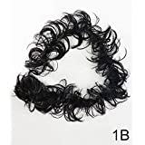 FULLY Ponytail Bun Updos Synthetic Hairpiece Curly Messy Bun Hair Extensions For Women & Girls (Black)