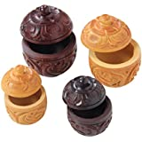 Fab Handicraft Handcrafted Sindoor Box Combo Of 4 (Multi)