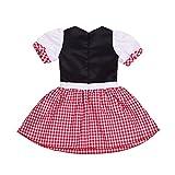 Tiaobug Baby Kostüm Mädchen Halloween Rotkäppchen Kleid Kleinkind Märchen Kostüme zu Karneval Fasching 74 80 86 92 Rot&Weiß 86-92 Vergleich