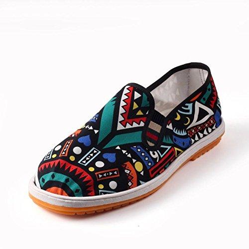 LvYuan Unisex chinesische traditionelle Tuchschuhe / beiläufige Retro Atmen Sie Stickereischuhe / Kung Fu Schuhe / Kampfkünste / Beleg-auf Schuhe 9#