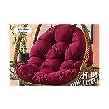 Hazelsha Amaca da Appendere a Forma di Uovo Senza Supporto, Cuscino per Sedia a Dondolo Spesso con Cuscino, Poliestere, Purple, 86 * 120 * 15CM