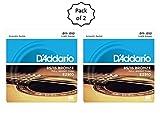 #2: D'Addario EZ910 Bronze Light (.011-.052), 85/15 Acoustic Guitar Strings (2 Pack)