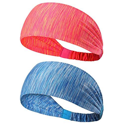 801530c4a Originbest 2pcs Non Slip Unisex Stretch elástico Deportes Sudor Banda Head  Bands Diadema Deportiva Head Wrap