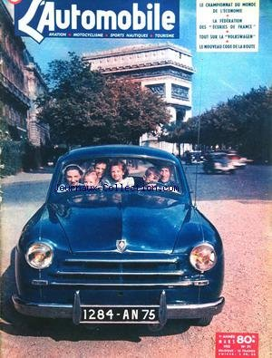 AUTOMOBILE (L') [No 71] du 01/03/1952 - le championnat du monde de l'economie la federation des ecuries de france tout sur la volkswagen le nouveau code de la route par Collectif